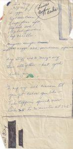 Handwritten coffee cake recipe from 1971