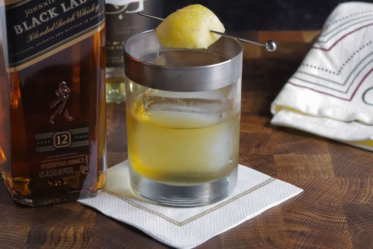 The simple Rusty Nail cocktail is a sweet and smokey delight. Made with Scotch Whiskey and Drambuie  it is a delicious treat.