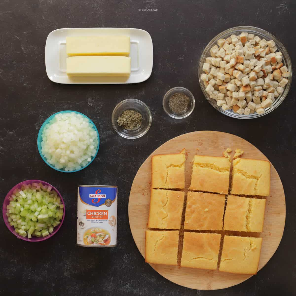 Kentucky cornbread stuffing ingredients