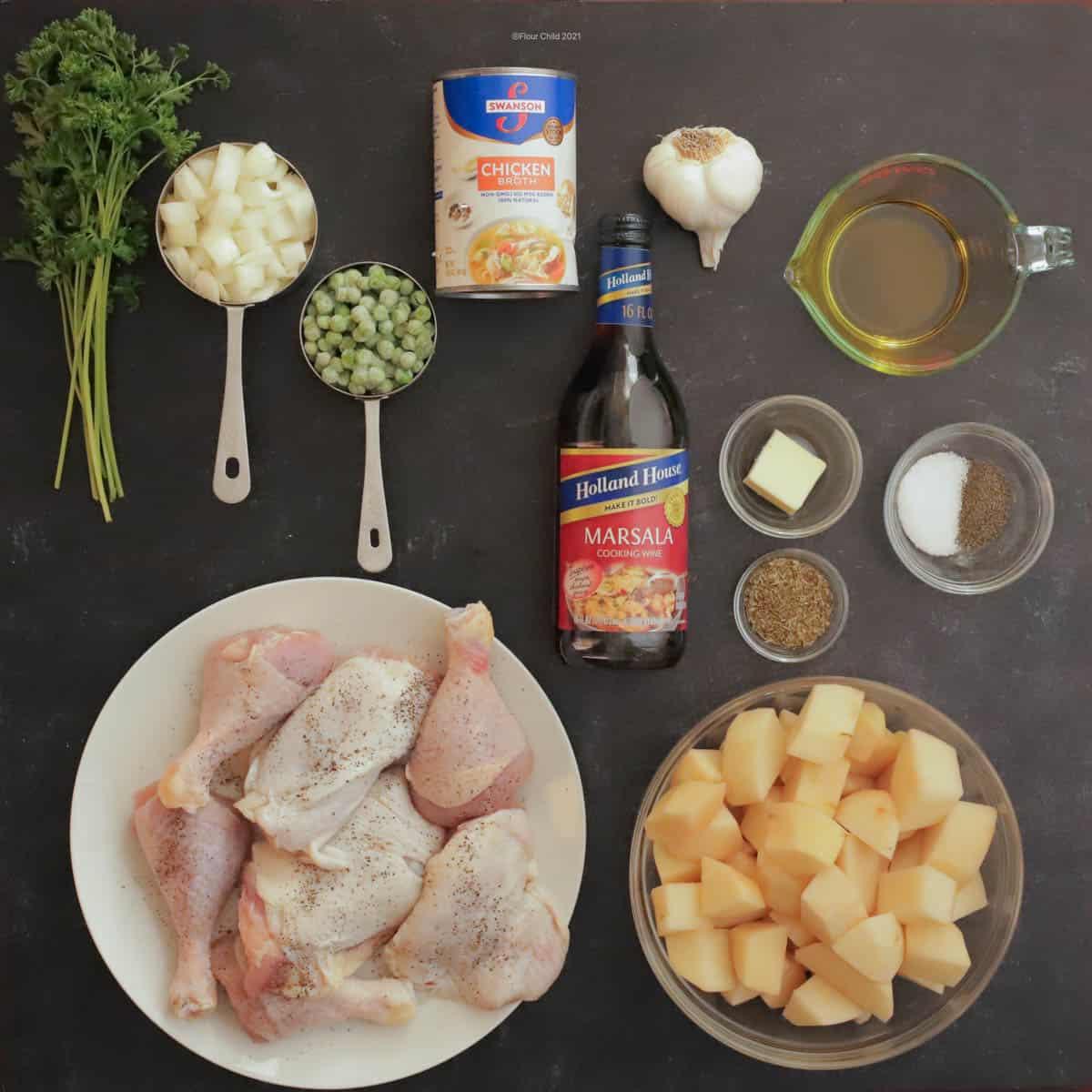 Chicken vesuvio ingredients