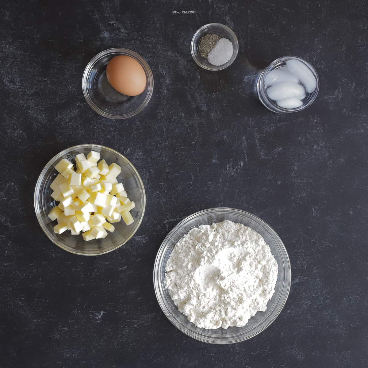 Homemade quiche crust ingredients